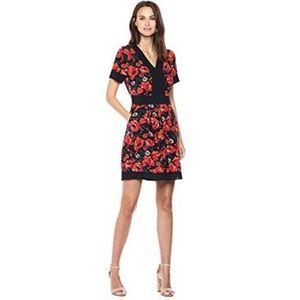 🆕Ella Moon Boho Black Poppy Floral Short Dress